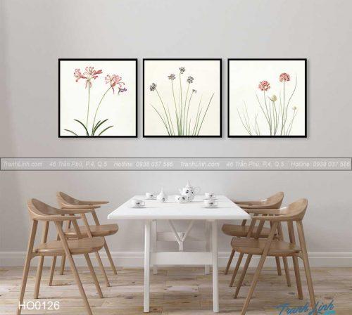 Bo tranh canvas hoa treo tuong trang tri phong an 13