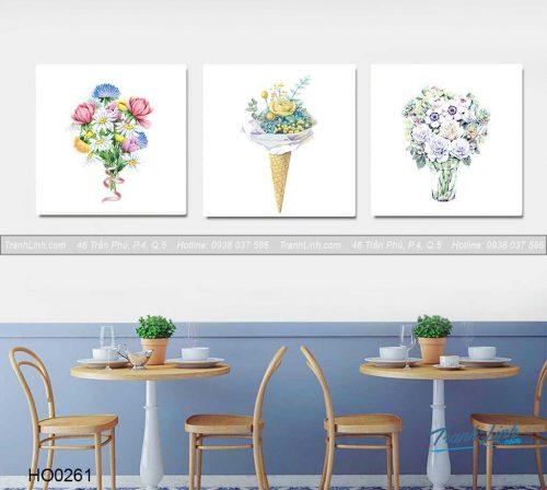 Bo tranh canvas hoa treo tuong trang tri phong an 28