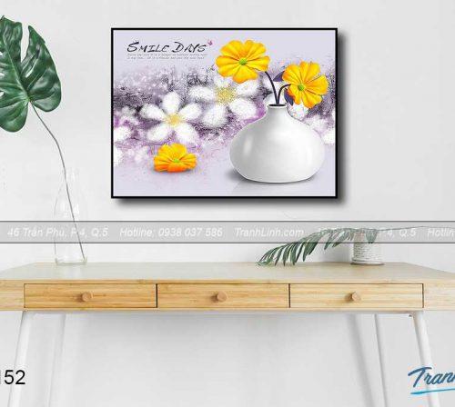 Bo tranh canvas hoa treo tuong trang tri phong khach 113