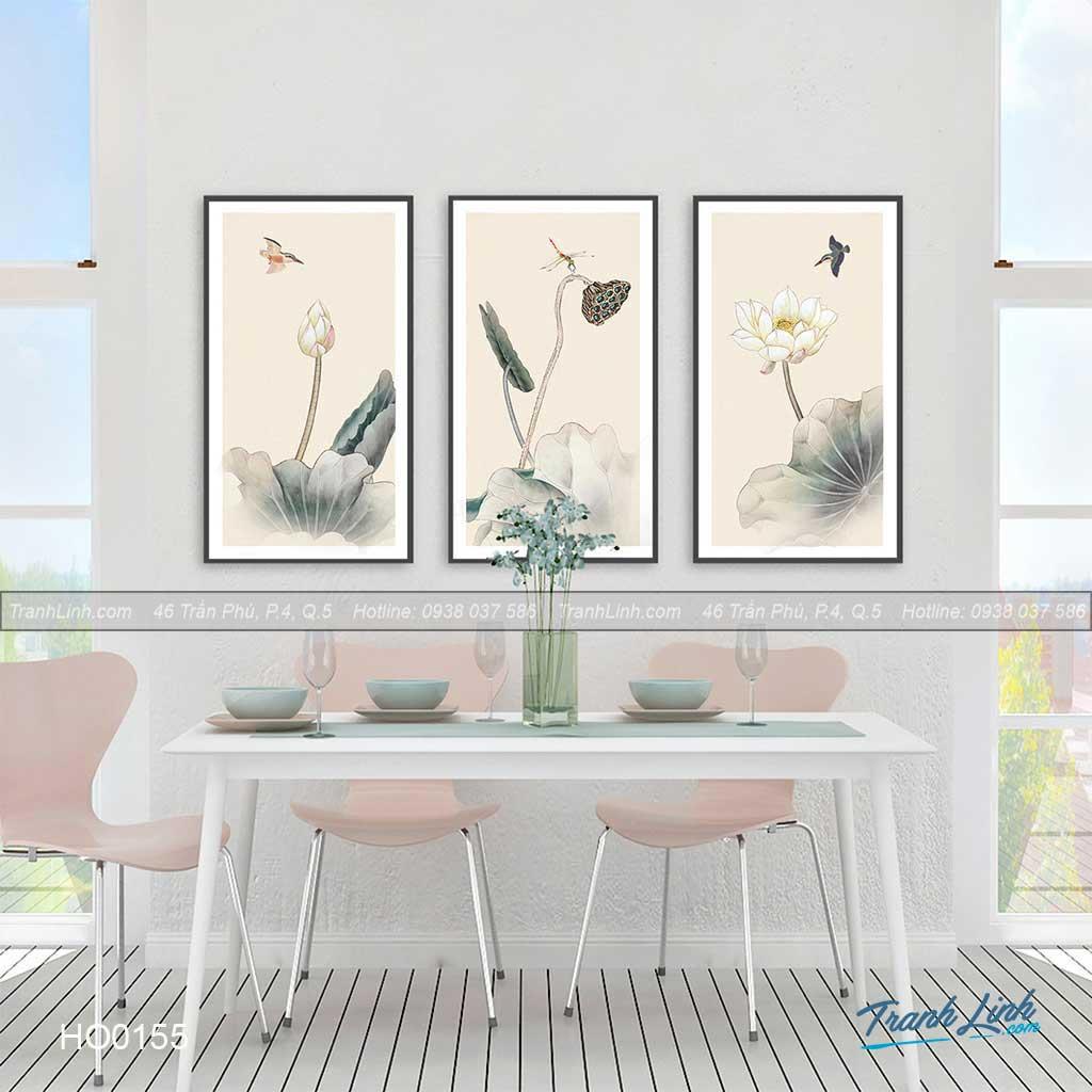Bo tranh canvas hoa treo tuong trang tri phong khach 116