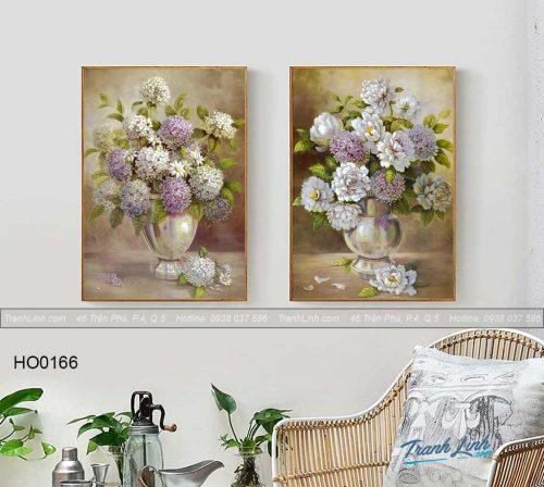 Bo tranh canvas hoa treo tuong trang tri phong khach 124