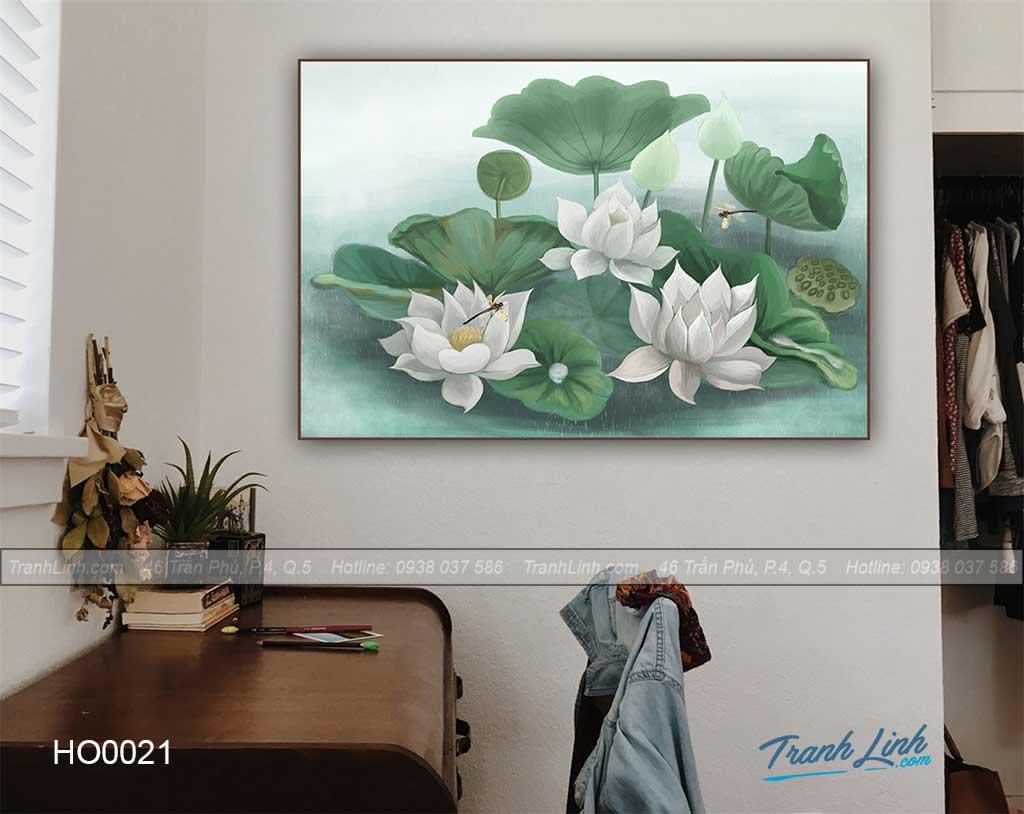 Bo tranh canvas hoa treo tuong trang tri phong khach 17