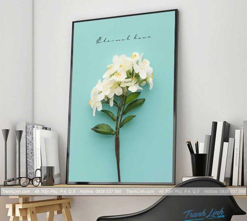 Bo tranh canvas hoa treo tuong trang tri phong khach 252