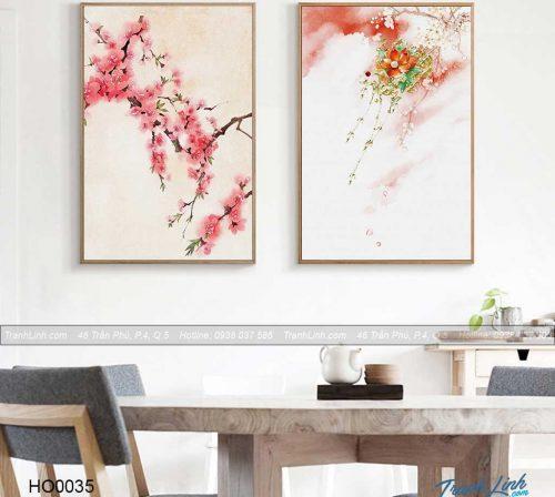 Bo tranh canvas hoa treo tuong trang tri phong khach 26