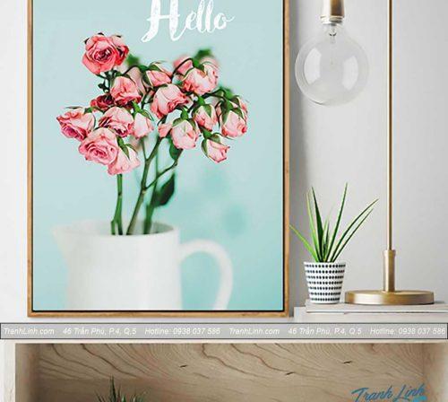 Bo tranh canvas hoa treo tuong trang tri phong khach 281