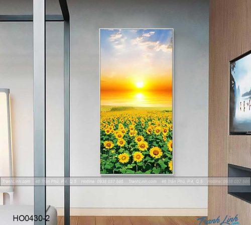 Bo tranh canvas hoa treo tuong trang tri phong khach 350