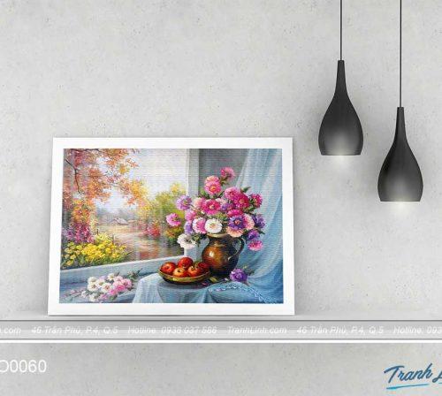Bo tranh canvas hoa treo tuong trang tri phong khach 47