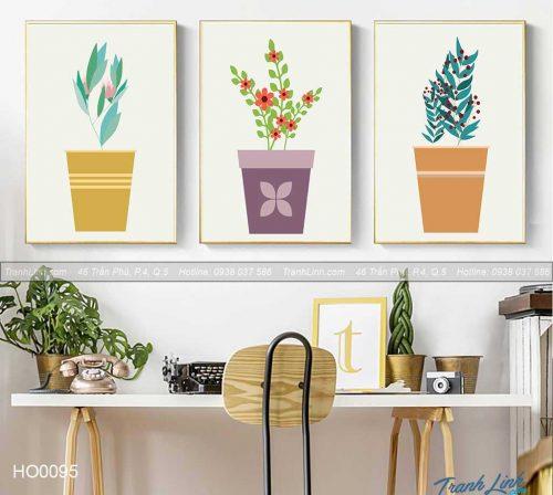 Bo tranh canvas hoa treo tuong trang tri phong khach 69