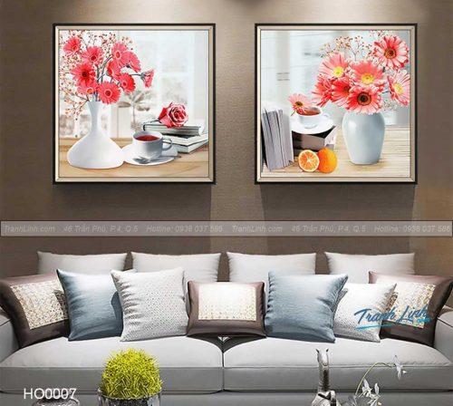 Bo tranh canvas hoa treo tuong trang tri phong khach 7