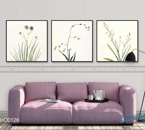 Bo tranh canvas hoa treo tuong trang tri phong khach 89