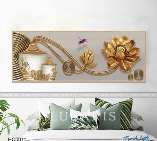 Bo tranh canvas hoa treo tuong trang tri phong ngu 3