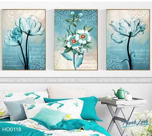 Bo tranh canvas hoa treo tuong trang tri phong ngu 37