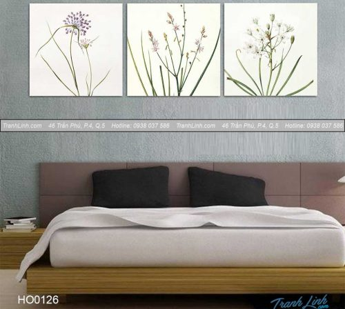 Bo tranh canvas hoa treo tuong trang tri phong ngu 39