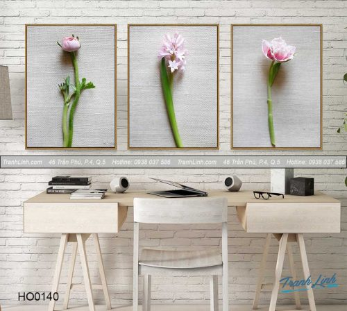 Bo tranh canvas hoa treo tuong trang tri phong ngu 40