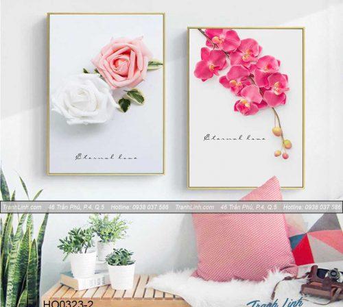Bo tranh canvas hoa treo tuong trang tri phong ngu 56