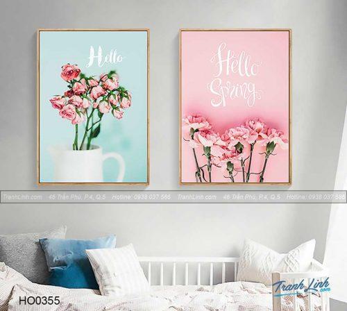 Bo tranh canvas hoa treo tuong trang tri phong ngu 62
