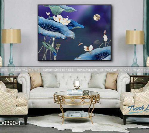 Bo tranh canvas hoa treo tuong trang tri phong ngu 67