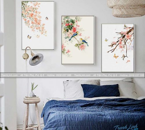 Bo tranh canvas hoa treo tuong trang tri phong ngu 74