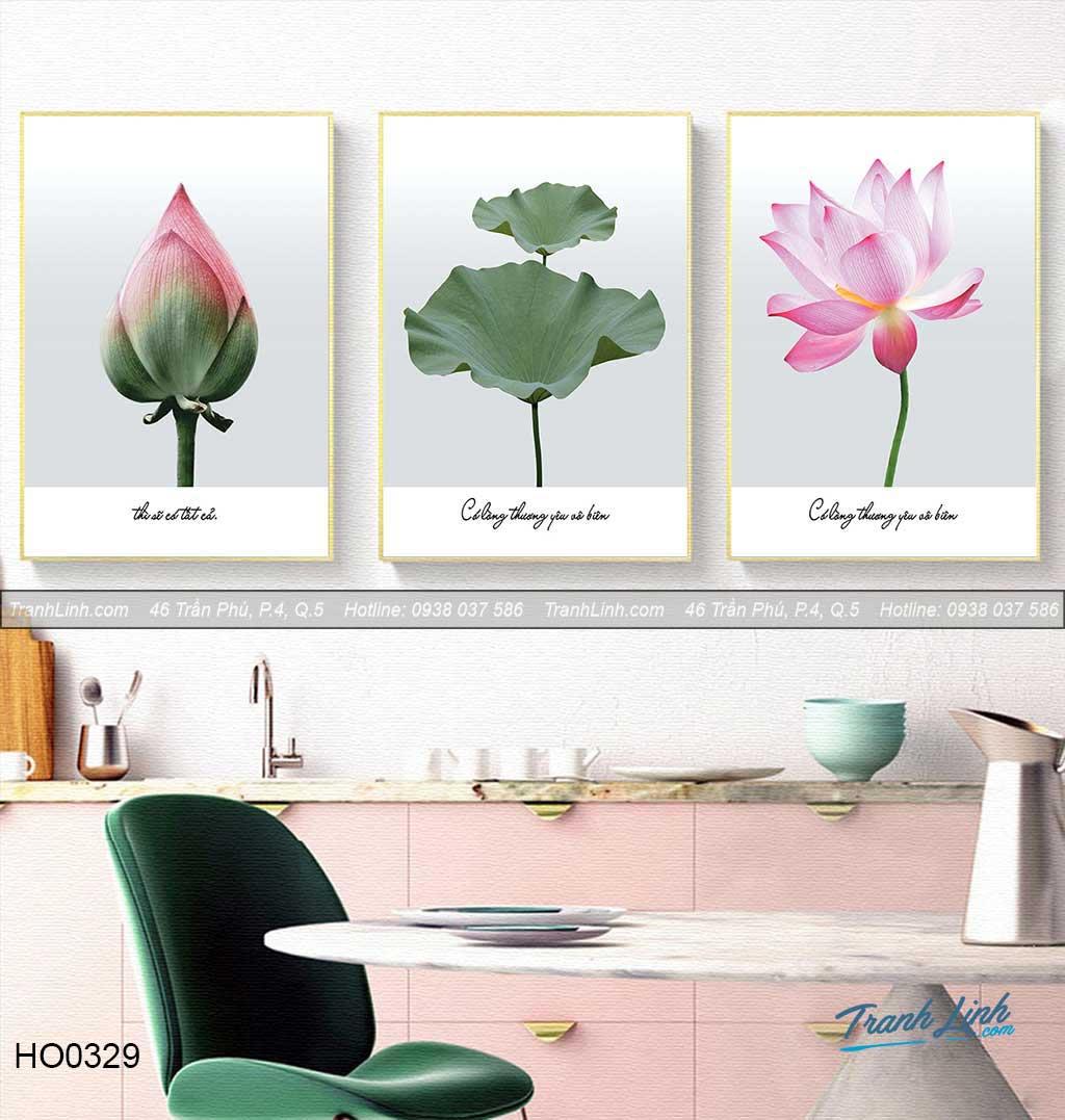 Bo tranh canvas hoa treo tuong trang tri phong tho 5