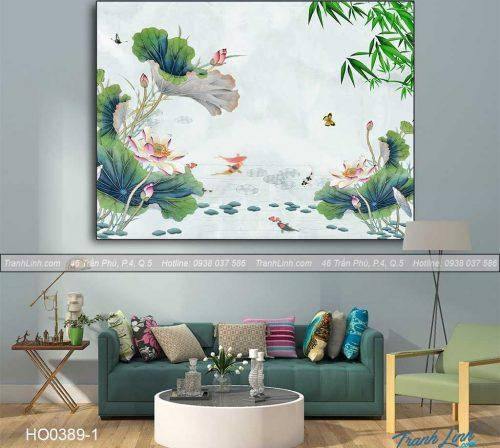 Bo tranh canvas hoa treo tuong trang tri phong tho 6