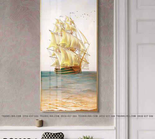 Bo tranh canvas treo tuong trang tri cau thang thuyen buom1