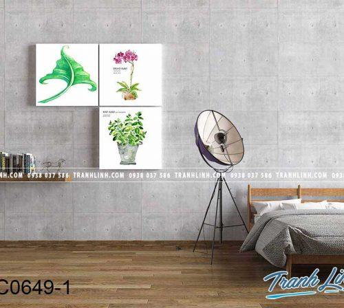 Bo tranh canvas treo tuong trang tri phong ngu 213