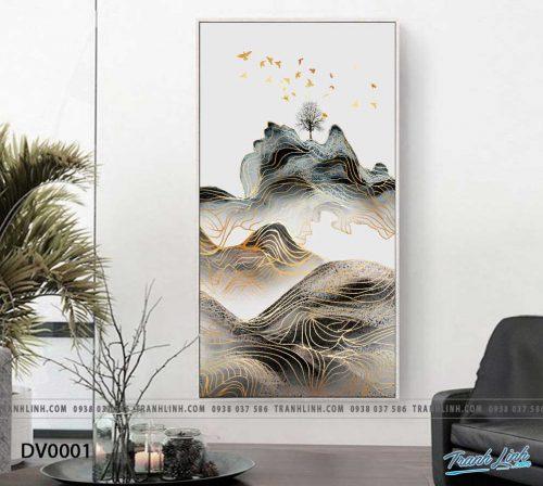 Tranh canvas treo tuong trang tri phong khach phong canh truu tuong 1