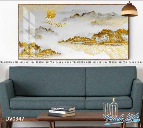 Tranh canvas treo tuong trang tri phong khach phong canh truu tuong 111