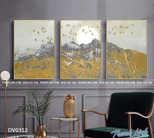 Tranh canvas treo tuong trang tri phong khach phong canh truu tuong 114