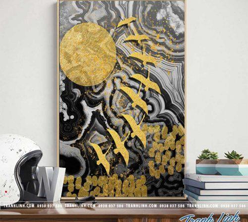 Tranh canvas treo tuong trang tri phong khach phong canh truu tuong 117