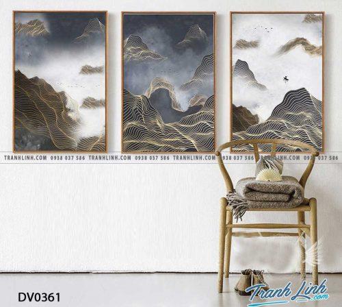 Tranh canvas treo tuong trang tri phong khach phong canh truu tuong 118