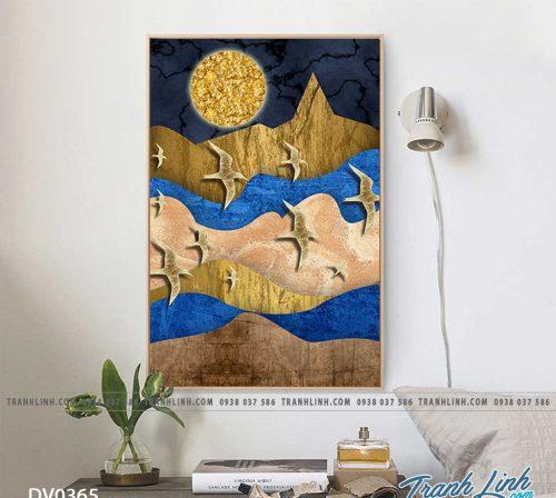 Tranh canvas treo tuong trang tri phong khach phong canh truu tuong 121