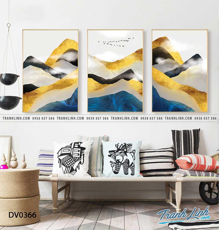 Tranh canvas treo tuong trang tri phong khach phong canh truu tuong 122