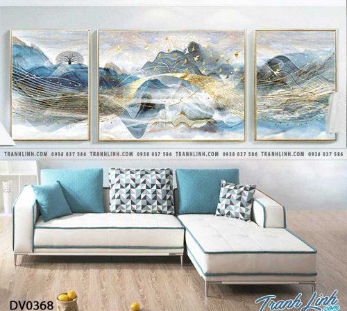 Tranh canvas treo tuong trang tri phong khach phong canh truu tuong 124