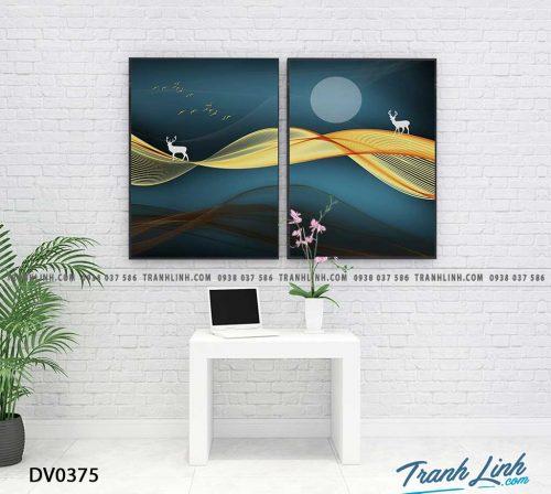 Tranh canvas treo tuong trang tri phong khach phong canh truu tuong 127
