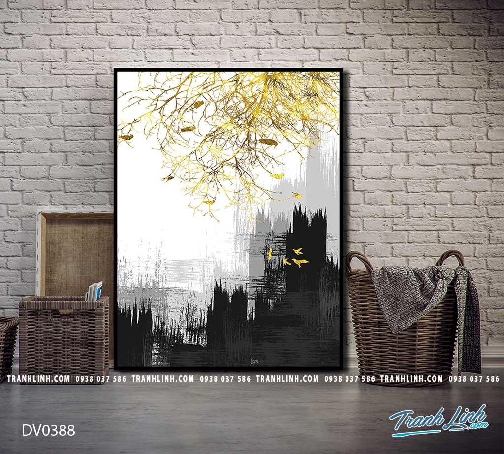 Tranh canvas treo tuong trang tri phong khach phong canh truu tuong 129