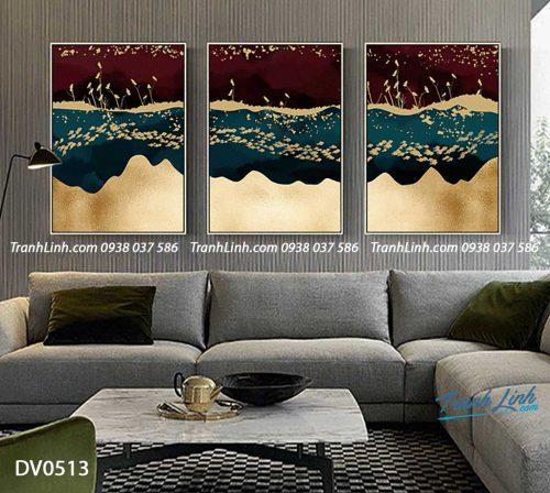 Tranh canvas treo tuong trang tri phong khach phong canh truu tuong 138