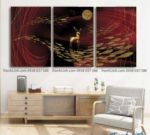 Tranh canvas treo tuong trang tri phong khach phong canh truu tuong 139