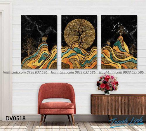 Tranh canvas treo tuong trang tri phong khach phong canh truu tuong 142