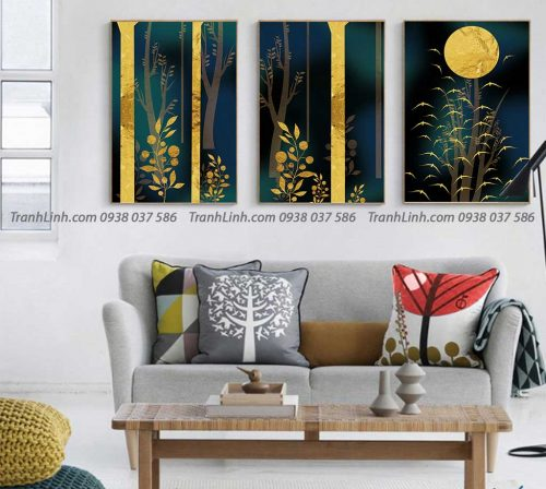 Tranh canvas treo tuong trang tri phong khach phong canh truu tuong 143