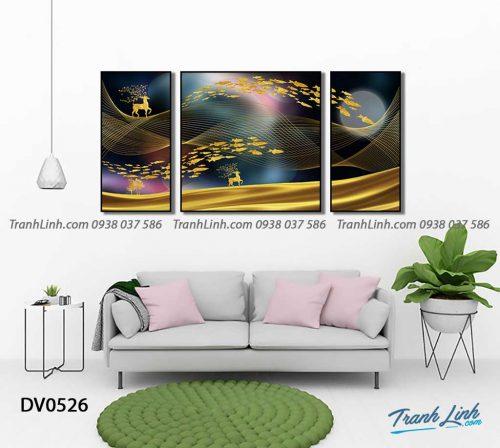 Tranh canvas treo tuong trang tri phong khach phong canh truu tuong 146