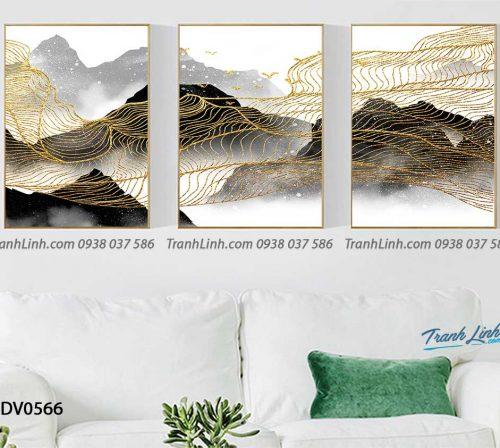 Tranh canvas treo tuong trang tri phong khach phong canh truu tuong 151
