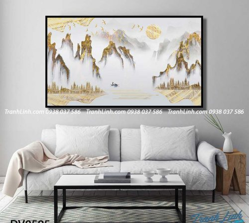 Tranh canvas treo tuong trang tri phong khach phong canh truu tuong 157