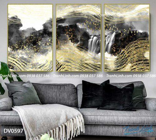 Tranh canvas treo tuong trang tri phong khach phong canh truu tuong 158