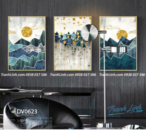 Tranh canvas treo tuong trang tri phong khach phong canh truu tuong 162