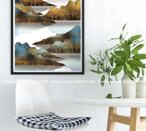 Tranh canvas treo tuong trang tri phong khach phong canh truu tuong 163