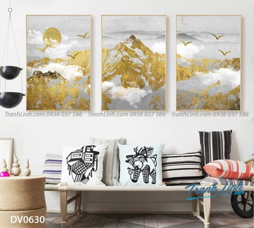 Tranh canvas treo tuong trang tri phong khach phong canh truu tuong 164