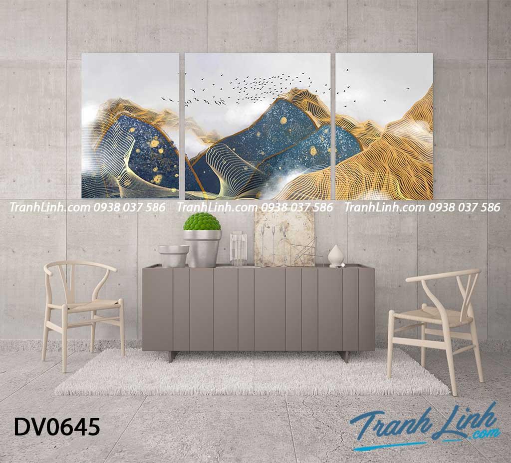 Tranh canvas treo tuong trang tri phong khach phong canh truu tuong 169