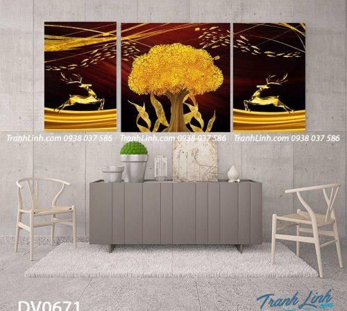 Tranh canvas treo tuong trang tri phong khach phong canh truu tuong 175