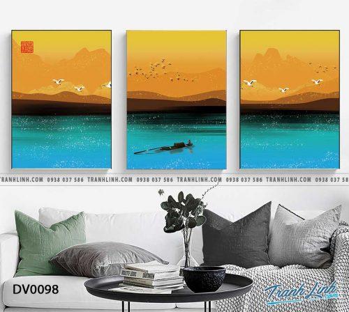Tranh canvas treo tuong trang tri phong khach phong canh truu tuong 18